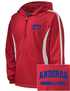 Andorra Embroidered Men's Colorblock Raglan Anorak