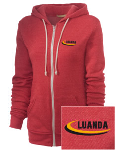 Angola Embroidered Alternative Unisex The Rocky Eco-Fleece Hooded Sweatshirt