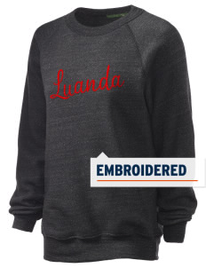 Angola Embroidered Unisex Alternative Eco-Fleece Raglan Sweatshirt