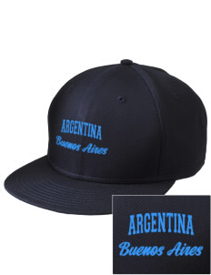 Argentina  Embroidered New Era Flat Bill Snapback Cap