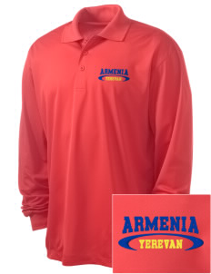 Armenia Embroidered Men's Long Sleeve Micropique Sport-Wick Sport Shirt