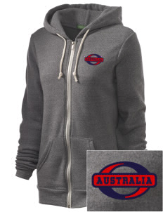 Australia Embroidered Alternative Unisex The Rocky Eco-Fleece Hooded Sweatshirt