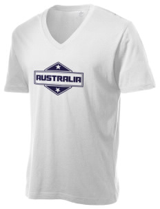 Australia Alternative Men's 3.7 oz Basic V-Neck T-Shirt
