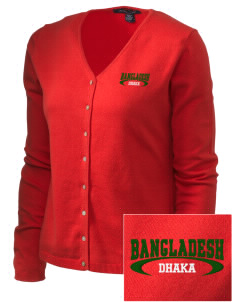 Bangladesh Embroidered Women's Stretch Cardigan Sweater