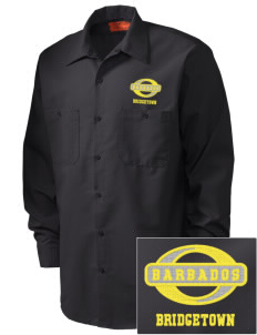 Barbados Embroidered Men's Industrial Work Shirt - Regular