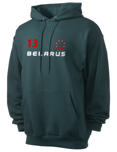 Belarus Men's 7.8 oz Lightweight Hooded Sweatshirt