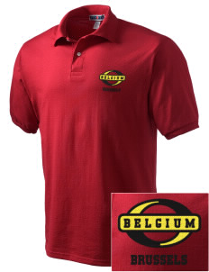Belgium Embroidered Men's Jersey Polo