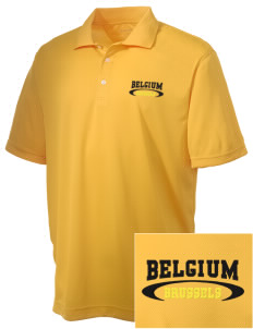 Belgium Embroidered Men's Double Mesh Polo