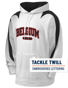 Belgium Holloway Men's Sports Fleece Hooded Sweatshirt with Tackle Twill