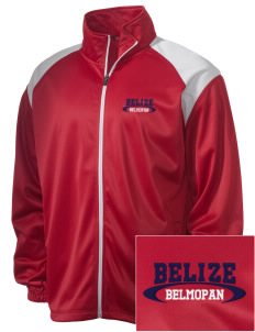 Belize Embroidered Men's Tricot Track Jacket