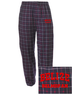 Belize Embroidered Men's Button-Fly Collegiate Flannel Pant