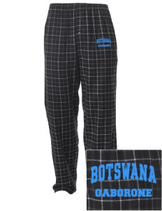 Botswana Embroidered Men's Button-Fly Collegiate Flannel Pant