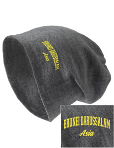 Brunei Darussalam Embroidered Slouch Beanie