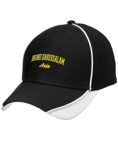 Brunei Darussalam Embroidered New Era Contrast Piped Performance Cap