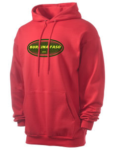 Burkina Faso Men's 7.8 oz Lightweight Hooded Sweatshirt