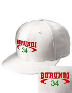 Burundi  Embroidered New Era Flat Bill Snapback Cap