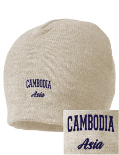 Cambodia Embroidered Beanie