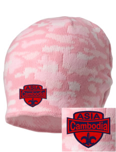 Cambodia Embroidered Camo Beanie