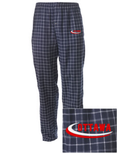 Canada Embroidered Men's Button-Fly Collegiate Flannel Pant