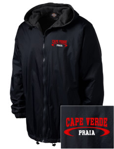 Cape Verde Embroidered Dickies Men's Fleece-Lined Hooded Jacket