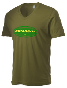 Comoros Alternative Men's 3.7 oz Basic V-Neck T-Shirt