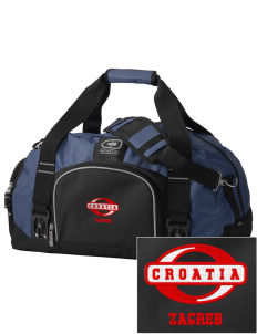 Croatia  Embroidered OGIO Big Dome Duffel Bag