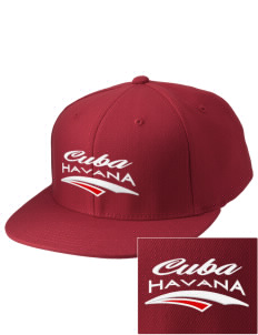 Cuba Embroidered Diamond Series Fitted Cap