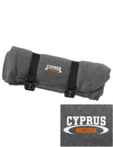 Cyprus Embroidered Fleece Blanket with Strap