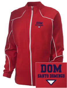 Dominican Republic Embroidered Russell Women's Full Zip Jacket
