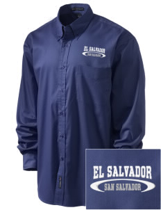 El Salvador Embroidered Men's Easy-Care Shirt