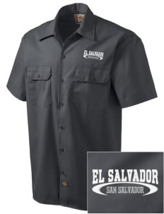 El Salvador Embroidered Dickies Men's Short-Sleeve Workshirt