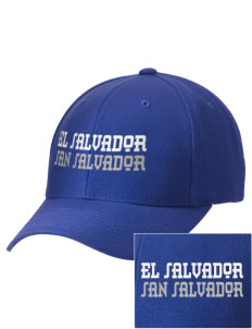 El Salvador Embroidered Wool Adjustable Cap