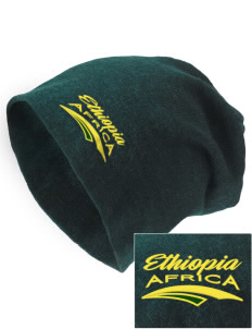 Ethiopia Embroidered Slouch Beanie