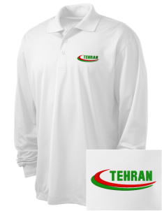 Iran Embroidered Men's Long Sleeve Micropique Sport-Wick Sport Shirt