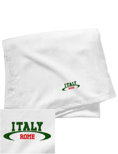 Italy Embroidered Beach Towel