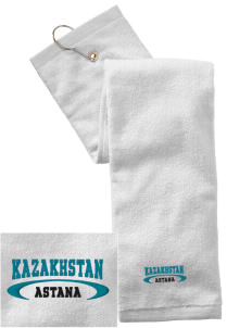 Kazakhstan Embroidered Hand Towel with Grommet
