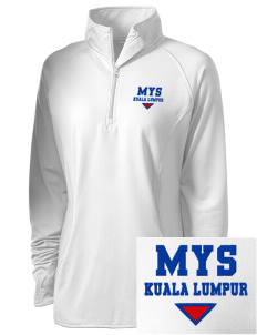 Malaysia Embroidered Ladies Stretched Half-Zip Pullover