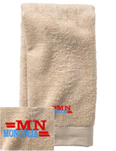 Mongolia  Embroidered Zero Twist Resort Hand Towel