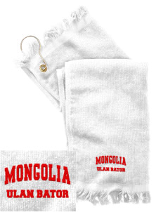 Mongolia  Embroidered Grommeted Finger Tip Towel