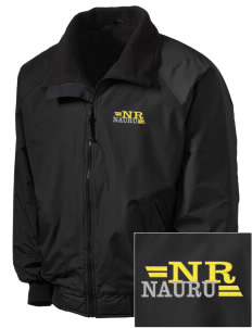 Nauru Embroidered Tall Men's Challenger Jacket