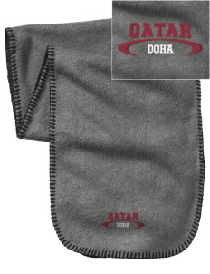 Qatar Embroidered Fleece Scarf
