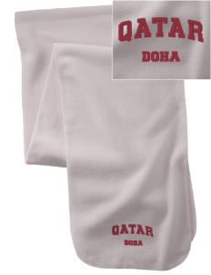 Qatar  Embroidered Extra Long Fleece Scarf
