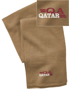 Qatar  Embroidered Knitted Scarf
