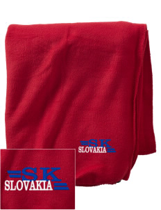 Slovakia Embroidered Holloway Stadium Fleece Blanket
