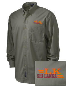 Sri Lanka Embroidered Men's Twill Shirt