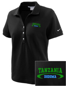 Tanzania Embroidered Nike Women's Pique Golf Polo