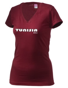 Tunisia Juniors' Fine Jersey V-Neck Longer Length T-shirt
