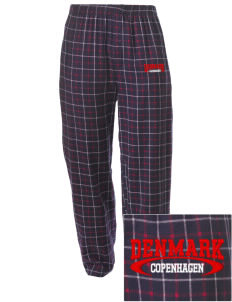 Denmark Embroidered Men's Button-Fly Collegiate Flannel Pant