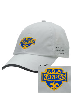 Kansas Embroidered Nike Dri-FIT Swoosh Perforated Cap