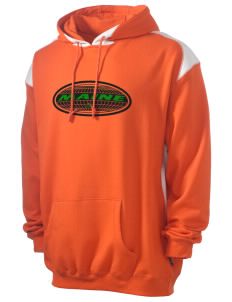 Maine Men's Pullover Hooded Sweatshirt with Contrast Color